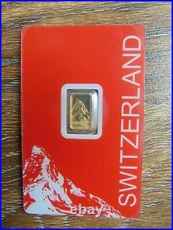 Goldbarren mit Motiv Matterhorn aus der Schweiz 1g im Blister PAMP goldbar