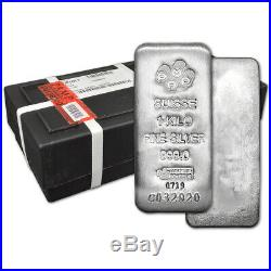 Kilo 32.15 oz Silver Bar PAMP Suisse. 999 Fine with Assay Sealed Box of 15