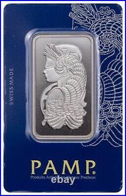 L@@K PAMP 100g Silver Bar Lady Fortuna Minted PREPPER Survival Investment