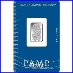 L@@K PAMP 10g PLATINUM Bar LADY FORTUNA Minted PREPPER Survival Investment