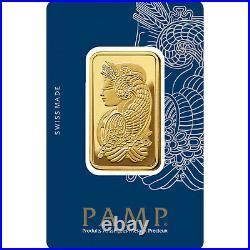 L@@K PAMP 1oz GOLD Bar Minted PREPPER Survival Investment