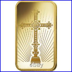 L@@K PAMP 1oz GOLD Bar ROMANESQUE CROSS Minted PREPPER Survival Investment