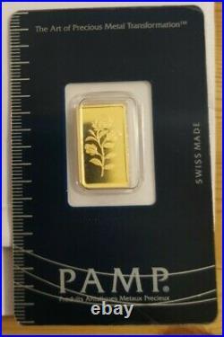 L@@K PAMP 2.5g GOLD ROSA Bar Rare