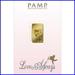 L@@K PAMP 5g GOLD Bar LOVE VALENTINES RARE Minted Investment