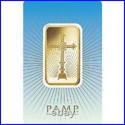 L@@K PAMP 5g GOLD Bar ROMANESQUE CHRISTIAN CROSSPREPPER Survival Investment