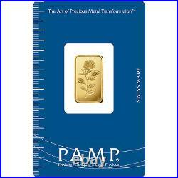 L@@K PAMP 5g GOLD Bar ROSA RARE Minted PREPPER Survival Investment