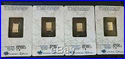 LOT of 4, 1 Gram Palladium PAMP Assay & Shrink Wrap. 9995 NEW with Certifications