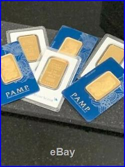 Lot Of 10 Pamp Suisse Or Credit Suisse 1 Oz. 999 Gold Bars 10 Ounces Total