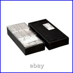 Lot of 10 10 oz PAMP Suisse Silver Cast Bar. 999 Fine (withAssay)