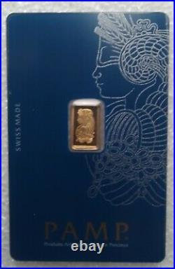Lot of (2) 1 Gram Gold Bars in Assay Perthmint Black Swan & Pamp Sussie Veriscan