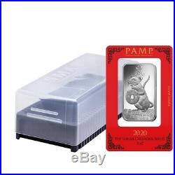 Lot of 2 1 oz PAMP Suisse Year of the Mouse / Rat Platinum Bar (In Assay)