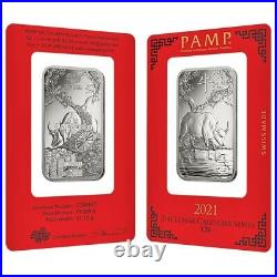 Lot of 2 1 oz PAMP Suisse Year of the Ox Platinum Bar (In Assay)