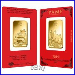 Lot of 2 1 oz PAMP Suisse Year of the Pig Gold Bar (In Assay)