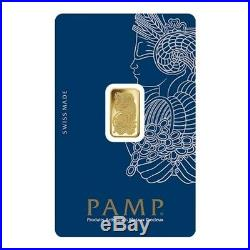 Lot of 2 2.5 gram Gold Bar PAMP Suisse Lady Fortuna Veriscan (In Assay)