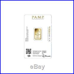 Lot of 2 Gold 5 Gram PAMP Lady Fortuna. 9999 Fine Sealed Bars with Veriscan