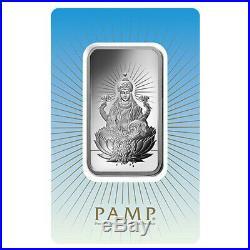 Lot of 5 1 oz PAMP Suisse Silver Bar Lakshmi (In Assay). 999 Fine