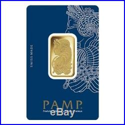 Lot of 5 20 gram Gold Bar PAMP Suisse Lady Fortuna Veriscan (In Assay)