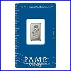 Lot of 5 5 Gram Platinum Bar PAMP Suisse Rosa. 9995 Fine (In Assay)
