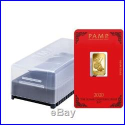 Lot of 5 5 gram PAMP Suisse Year of the Mouse / Rat Gold Bar (In Assay)