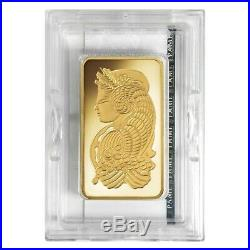Lot of 5 5 oz PAMP Suisse Lady Fortuna Gold Bar. 9999 Fine (In Assay)