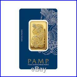 Lot of 5 Gold 1 oz PAMP Suisse Lady Fortuna. 9999 Fine Bars with BANK WIRE ONLY