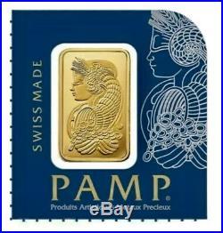 NEW PAMP SUISSE Gold 1 Gram Bar 24KT. 9999 Fine In Veriscan Assay