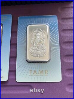 NEW Pamp Suisse 1oz Silver Bar. 999 Goddess Lakshmi Wealth Limited Edition Assy