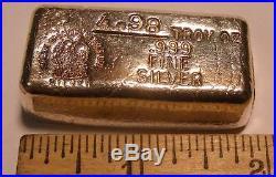 Neat 4.98 OZ. Poured Silver Bar. 999 Fine Loaf Bar Phoenix Precious Metals