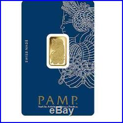 One Hundred (100) 5 Gram PAMP Suisse. 9999 pure Gold Bars FREE shipping