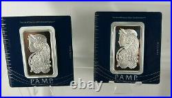 PAMP 100 gram Silver Bar PAMP Suisse Fortuna In Assay See Pics & Description