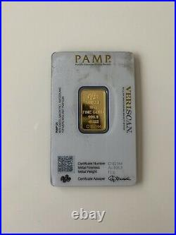 PAMP 10g Gold Bullion Bar In Sealed Capsule