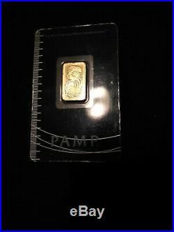 PAMP 5 Gram Pure Gold Bullion Bar in Assay Card (Sigma Tested 999+ / 24kt)