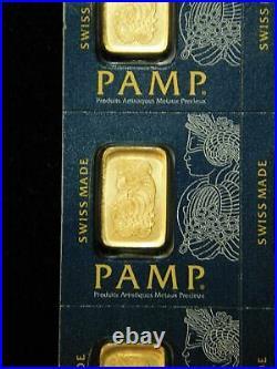 PAMP GOLD Full 25x1 gram Sheet with Assay Cards Break Off Bars