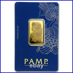 PAMP Lady Fortuna Gold Bullion Bar 100 Grams 999
