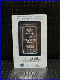 PAMP SUISSE 1 oz PALLADIUM BAR
