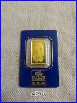 PAMP SUISSE 10 gram Gold Bar Bullion Fortuna Assay Cert. #495452 FREE SHIP