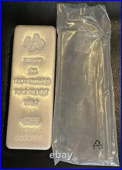 PAMP SUISSE 100 OZ SILVER BAR WithORG PACKAGING LOW SERIAL NUMBER