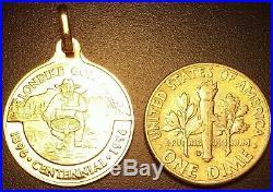 PAMP SUISSE 14K Gold Klondike Medal/bullion/pendant/ingot/charm/bar/coin/token