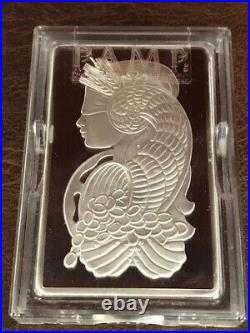PAMP SUISSE Fortuna 10 oz Silver Bar In Capsule withAssay Low Ser # B000738