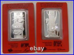 PAMP SUISSE LOT Gold (2g) Platinum (1g) Silver (4oz 20g) Dragon Horse Snake Etc