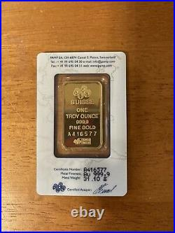 PAMP SUISSE One troy ounce Gold bar