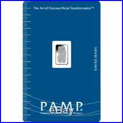 PAMP Suisse 1 Gram. 9995 Palladium Bar Fortuna Sealed With Assay Certificate