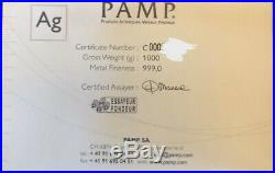 PAMP Suisse 1 Kilo Silver Bar. 999 Certificated Includes 1g Pamp Gold Investment