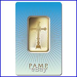 PAMP Suisse 1 Ounce Gold Bar Romanesque Cross
