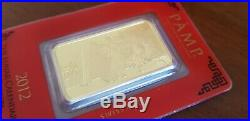 PAMP Suisse 1 oz Dragon Lunar Pure Gold Bar sealed & numbered 999.9 One Ounce