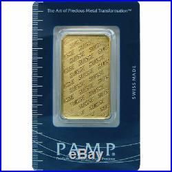 PAMP Suisse. 9999 Fine Gold 1 oz. Bar in Sealed Assay Card