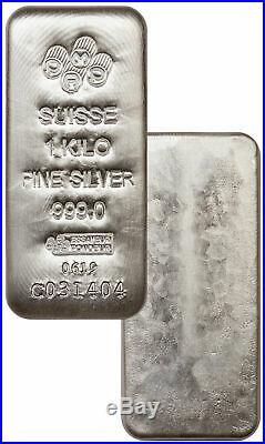 PAMP Suisse Cast 1 Kilo Silver. 999 Fine Numbered Bar SKU58340