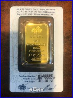 PAMP Suisse Fortuna 1 Oz Gold Bars Sealed in Assay