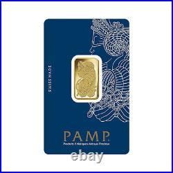 PAMP Suisse Fortuna 10 gram. 999 Fine Gold Bar SEALED IN VERISCAN ASSAY CARD