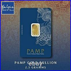 PAMP Suisse Fortuna 2.5 gram. 9999 Gold Bar Sealed with Assay Card